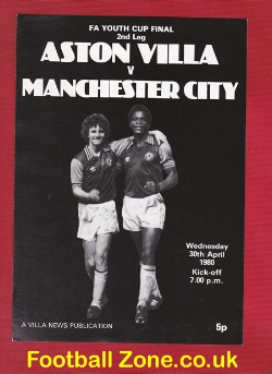 Aston Villa v Man City 1980 - Youth Cup Final