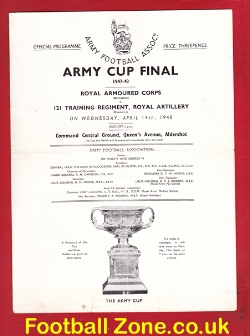 Army Cup Final Armoured Corps v Training Regiment 1948