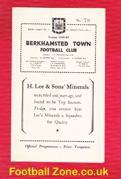 Berkhamsted Town v Welwyn Garden City 1948 - Senior Cup