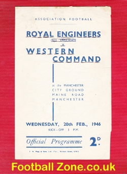 Army Royal Engineers v Western Command 1946 - at Man City