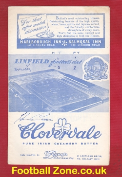 Linfield v Distillery 1962 - Signed Autographed