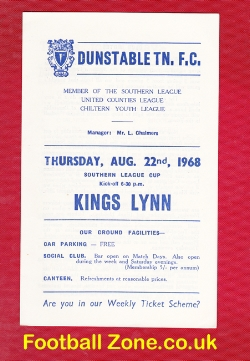 Dunstable Town v Kings Lynn 1968