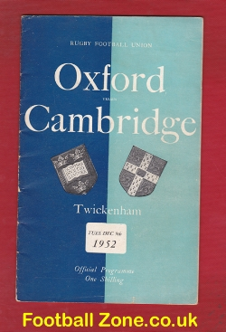 Oxford Rugby v Cambridge 1952