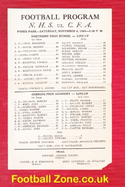Northside High School v Corn Free Academy 1943 - at Pyrex Park