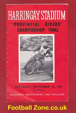 Harringay Speedway Provincial Riders Final 1961 - Last Ever