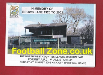 Formby v All Stars 2002 - Last Game at Brows Lane