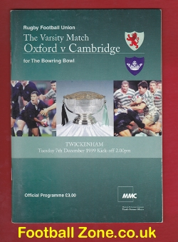 Oxford Rugby v Cambridge 1999
