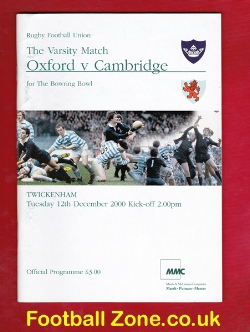 Oxford Rugby v Cambridge 2000