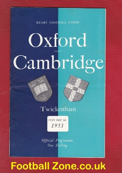 Oxford Rugby v Cambridge 1953