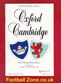 Oxford Rugby v Cambridge 1987