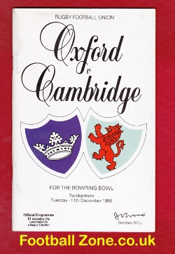 Oxford Rugby v Cambridge 1990
