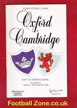 Oxford Rugby v Cambridge 1991