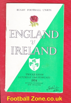 England Rugby v Ireland 1954 - 1950s
