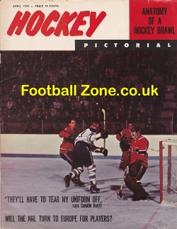 Ice Hockey Pictorial Magazine 1965 - USA - April
