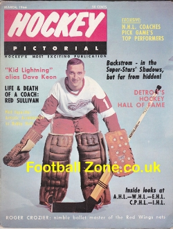 Ice Hockey Pictorial Magazine 1966 - USA - March