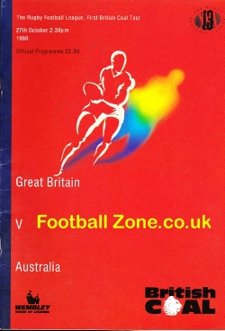 Great Britain Rugby v Australia 1990 - at Wembley