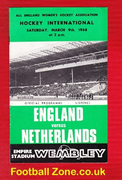 England Womens Hockey v Holland 1968 - at Wembley