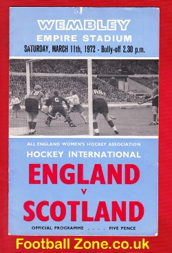 England Womens Hockey v Scotland 1972 - at Wembley