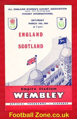 England Womens Hockey v Scotland 1964 - at Wembley