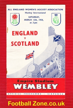 England Womens Hockey v Scotland 1954 - at Wembley