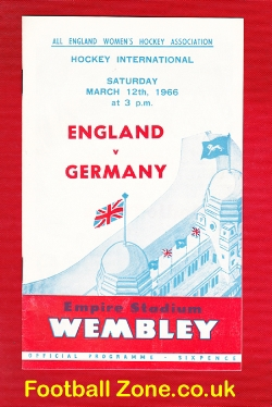 England Womens Hockey v Germany 1966 - Wembley Plus Ticket