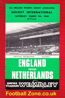 England Womens Hockey v Holland 1968 - Wembley Plus Ticket