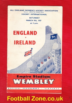 England Womens Hockey v Ireland 1957 - at Wembley