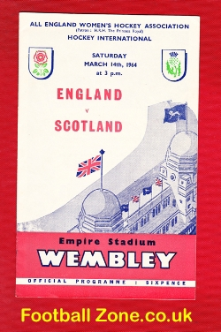 England Womens Hockey v Scotland 1964 - Wembley Plus Ticket