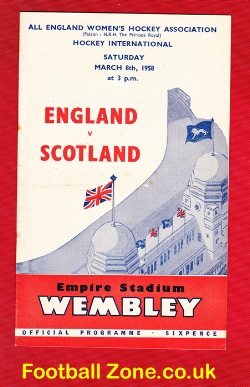 England Womens Hockey v Scotland 1958 - Wembley Inc Ticket