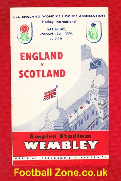 England Womens Hockey v Scotland 1954 - Wembley Plus Ticket