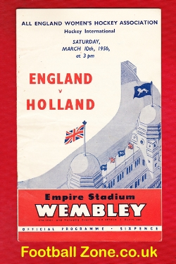 England Womens Hockey v Holland 1956 - Wembley