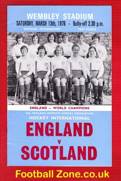 England Womens Hockey v Scotland 1976 - at Wembley + Ticket