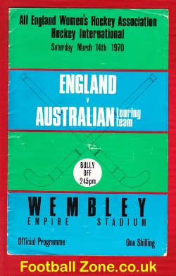 England Womens Hockey v Australia 1970 - Wembley Plus Tickets