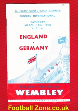 England Womens Hockey v Germany 1966 - Wembley Plus Ticket SONG