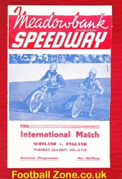 Scotland Speedway v England 1953 - Speedway Meeting Meadowbank