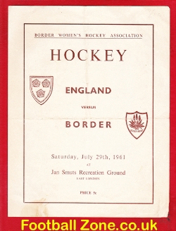 England Womens Hockey v Border 1961 - Ladies Hockey