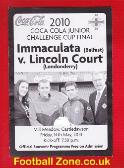 Immaculata v Lincoln Court 2010 - Irish Cup Final