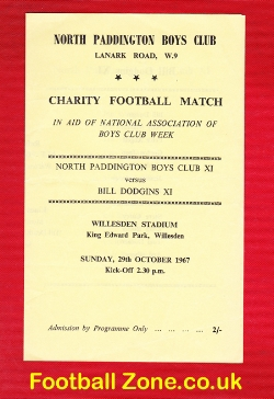 North Paddington Boys Club v Bill Dodgin X1 1967