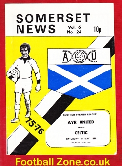 Ayr United v Glasgow Celtic 1976