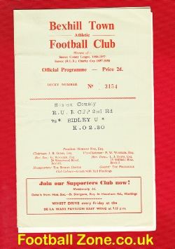 Bexhill Town Athletic v Sidley United 1960 - Royal Ulster Cup