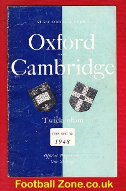 Oxford Rugby v Cambridge 1948 - Played at Twickenham