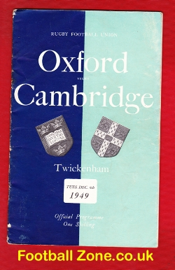 Oxford Rugby v Cambridge 1949