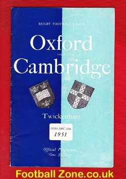 Oxford Rugby v Cambridge 1951