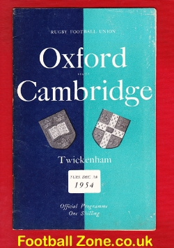 Oxford Rugby v Cambridge 1954