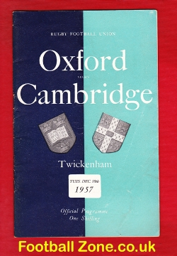 Oxford Rugby v Cambridge 1957