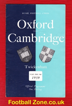 Oxford Rugby v Cambridge 1959