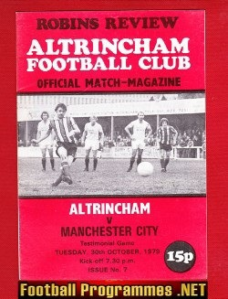 Altrincham v Man City 1979 - Official Robins Review
