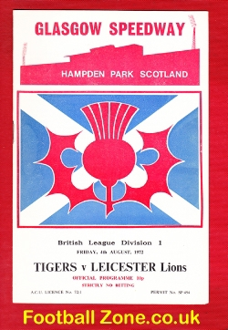 Glasgow Tigers Speedway v Leicester Lions 1972