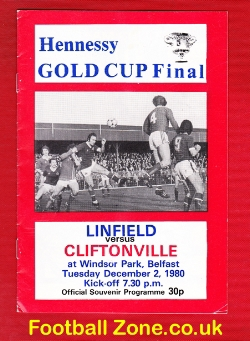 Linfield v Cliftonville 1980 - Irish Cup Final