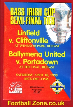 Linfield v Cliftonville 1999 - Irish Cup Semi Final + Ballymena